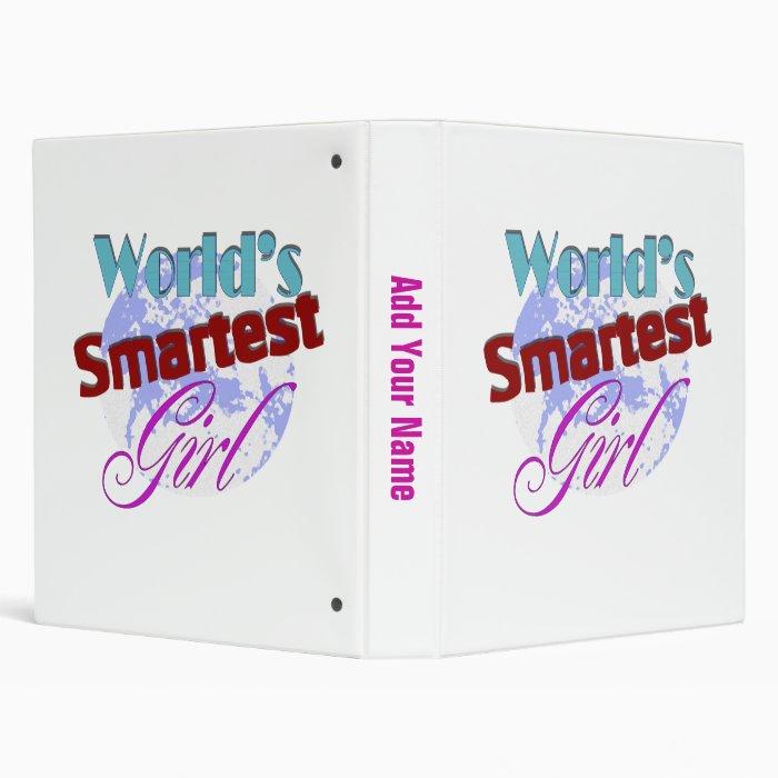 Worlds Smartest Girl Binder