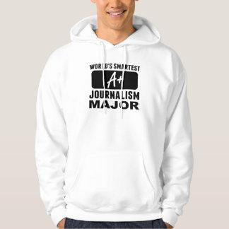 World's Smartest Journalism Major Hooded Sweatshirt