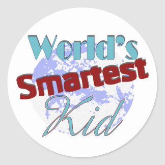 Worlds Smartest Kid Classic Round Sticker