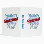 Worlds Smartest Kid Vinyl Binders