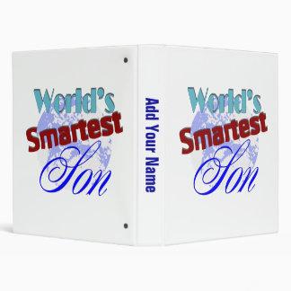 Worlds Smartest Son 3 Ring Binder