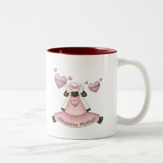 World's Sweetest Adoptive Mother Mothers Day Gifts Two-Tone Coffee Mug
