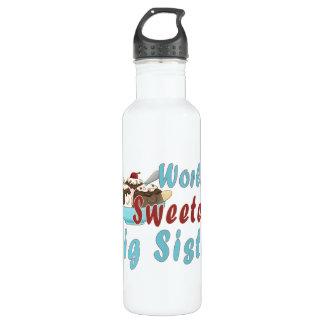World's Sweetest Big Sis Sundae 2 Stainless Steel Water Bottle