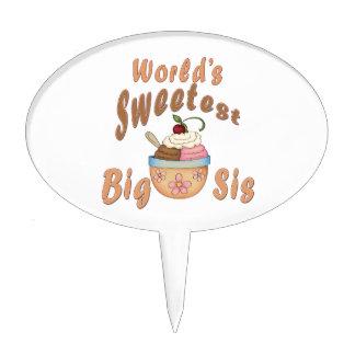 World's Sweetest Big Sis Sundae Cake Topper