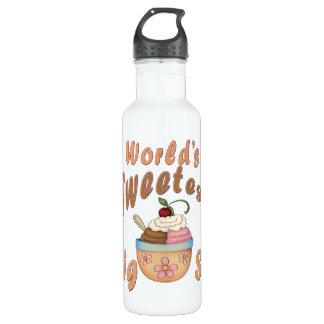 World's Sweetest Big Sis Sundae Water Bottle