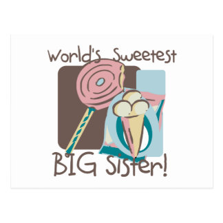 World's Sweetest Big Sister Postcard