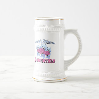 Worlds Sweetest Godmother Mothers Day Gifts 18 Oz Beer Stein