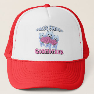 Worlds Sweetest Godmother Mothers Day Gifts Trucker Hat