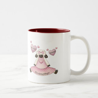 World's Sweetest Godmother Mothers Day Gifts Two-Tone Coffee Mug