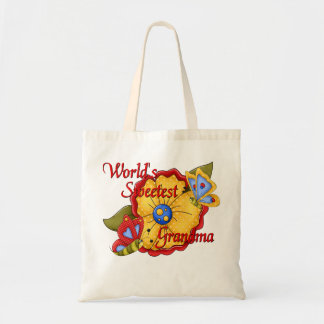 World's Sweetest Grandma Butterfly Bag
