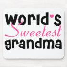 World's Sweetest Grandma mouse pad