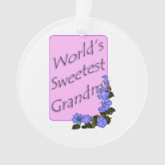 World's Sweetest Grandma Ornament