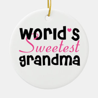 World's Sweetest Grandma Ornament