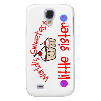 World's Sweetest Little Sister Cupcakes Galaxy S4 Covers