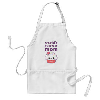 World's Sweetest Mom Adult Apron
