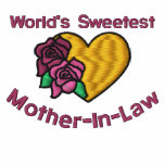 Worlds Sweetest Mother-In-Law Embroidered Shirt