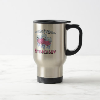 Worlds Sweetest Mother-In-Law Mothers Day Gifts 15 Oz Stainless Steel Travel Mug
