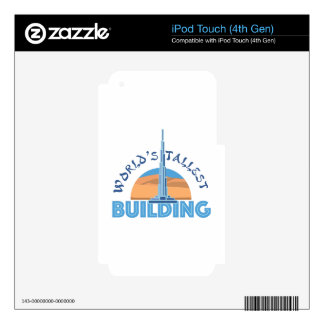 Worlds Tallest Building Decals For iPod Touch 4G