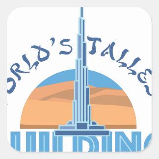 Worlds Tallest Building Square Sticker