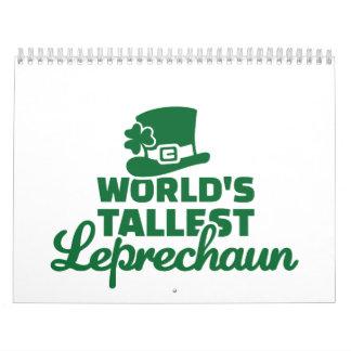 World's tallest Leprechaun Wall Calendar