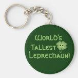 World's Tallest Leprechaun Basic Round Button Keychain