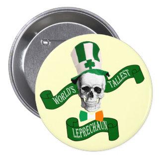 World's tallest leprechaun St Patrick's day Buttons