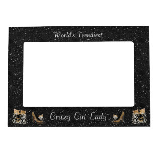 World's Trendiest Crazy Cat Lady Picture Frame