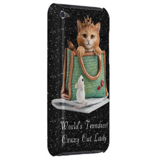 World's Trendiest Crazy Cat Lady Princess Kitten iPod Touch Cover