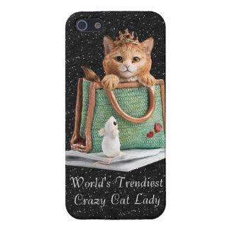 World's Trendiest Crazy Cat Lady Princess Kitten Case For iPhone SE/5/5s