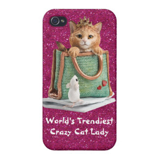 World's Trendiest Crazy Cat Lady Princess Kitten iPhone 4 Covers