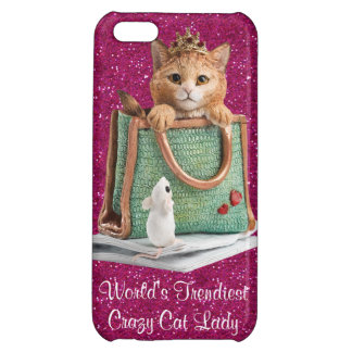 World's Trendiest Crazy Cat Lady Princess Kitten iPhone 5C Covers