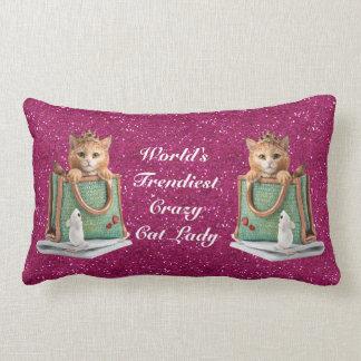World's Trendiest Crazy Cat Lady Princess Kitten Pillows