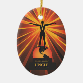 Worlds Uncle Golden Award Ornament
