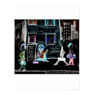 World's Unfunniest Cartoon On Funny Gifts & Tees Postcard