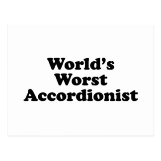 World's Worst Accordionist Postcard