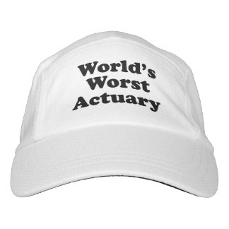 World's Worst Actuary Headsweats Hat
