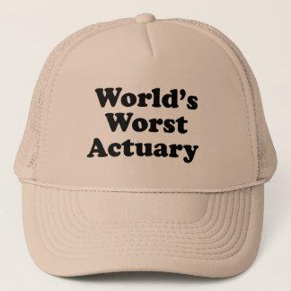 World's Worst Actuary Trucker Hat