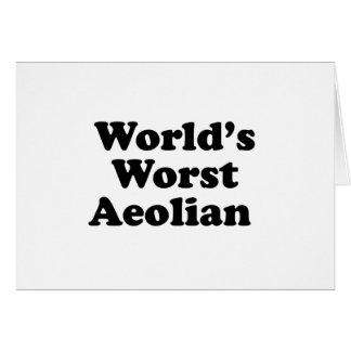 World's Worst Aeolian Card
