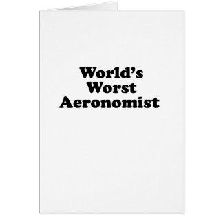 World's Worst Aeronomist Card