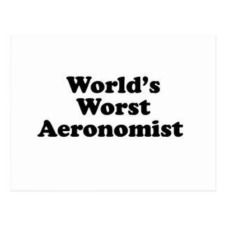 World's Worst Aeronomist Postcard