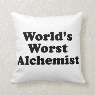 World's Worst Alchemist Throw Pillow