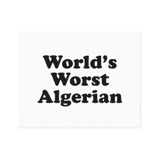 World's Worst Algerian Canvas Print