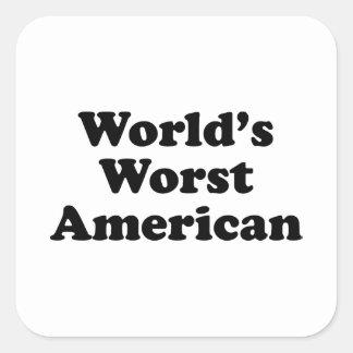 World's Worst American Square Sticker