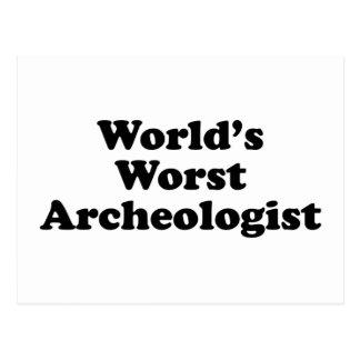 World's Worst Archaeologist Postcard