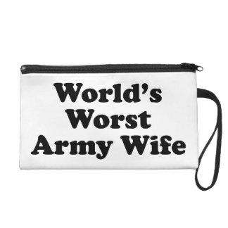 World's Worst Army Wife Wristlet Purse