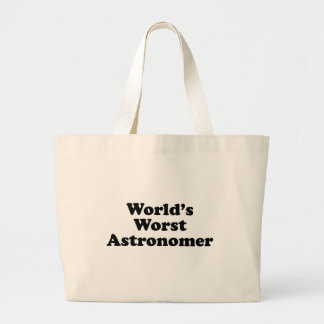 World's Worst Astronomer Large Tote Bag