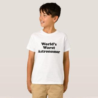 World's Worst Astronomer T-Shirt