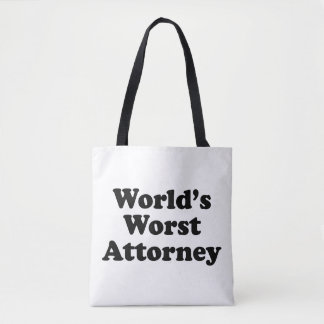 World's Worst Attorney Tote Bag