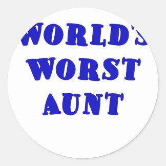 Worlds Worst Aunt Classic Round Sticker