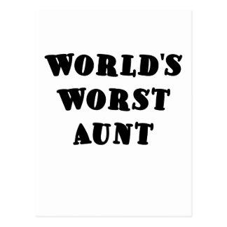 Worlds Worst Aunt Postcard